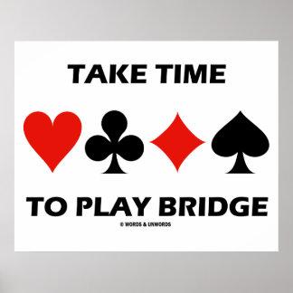 Tome o tempo jogar a ponte (quatro ternos do cartã pôster
