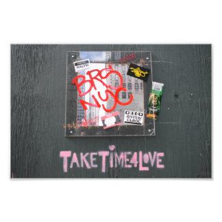 Tome o tempo para grafites da fotografia do amor