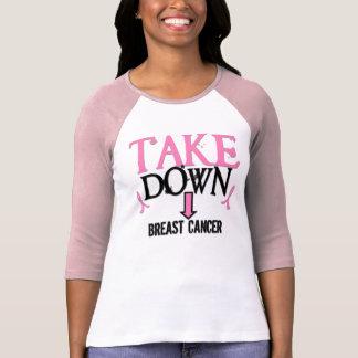 TOME PARA BAIXO o cancro da mama Camiseta