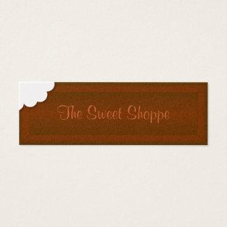 Tome uma mordida do chocolate cartão de visitas mini