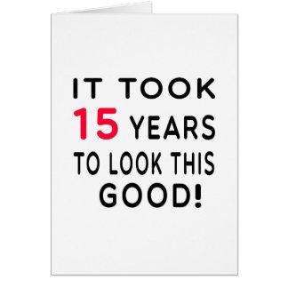 Tomou 15 anos de design do aniversário cartao