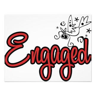 ToonDoveEngagedRed Convite Personalizado