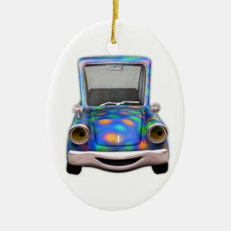 Toot! Toot! o carro pequeno bonito dos desenhos an Enfeites Para Arvores De Natal