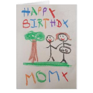 Tootsies de Thomas - cartão de Momy do feliz