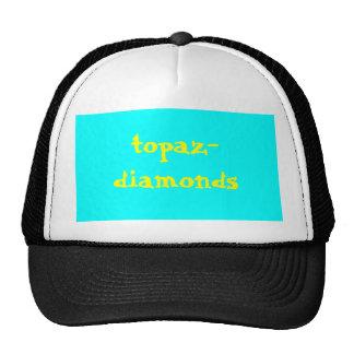 topázio-diamantes boné