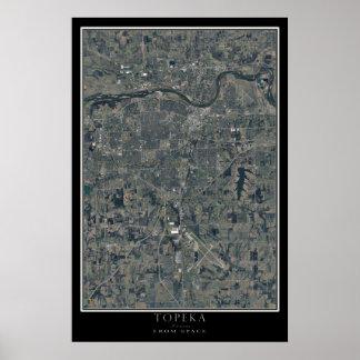 Topeka Kansas da arte do satélite do espaço Poster