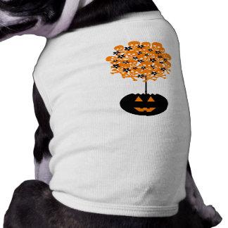 Topiary do crânio do Dia das Bruxas Camisa Sem Mangas Para Cachorro