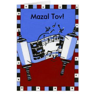 Torah musical cartão comemorativo