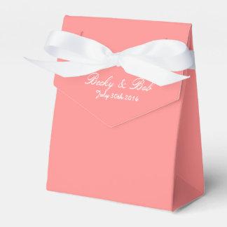 Toranja cor-de-rosa colorida caixinha de lembrancinhas