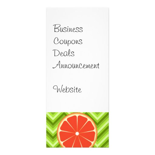 Toranjas brilhantes do citrino do verão em Chevron Panfleto Informativo Personalizado