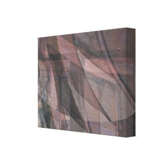 Torção em um impressão das canvas da variação de