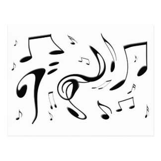 Torcendo o cartão das notas musicais cartoes postais