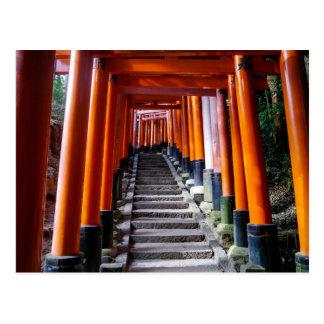 Torii no santuário de Inari, Kyoto - cartão