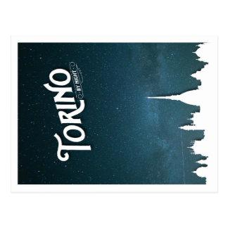 Torino em a noite - cartão