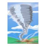 Tornado do furacão convites personalizados