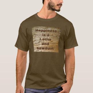 Torno e serragem da felicidade camiseta