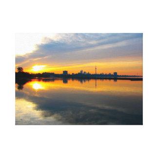 Toronto no nascer do sol - canvas