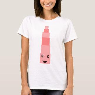Torre cor-de-rosa Monterssori 2,8 Camiseta