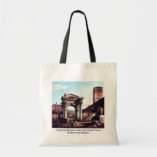 Torre da porta e de guarda do romano do capricho sacola tote budget