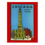 Torre de água de Chicago do vintage Cartão Postal