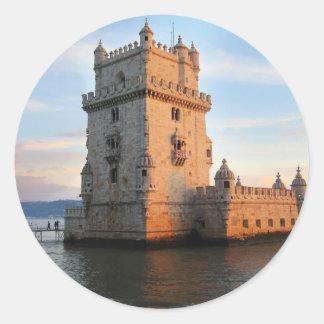 Torre de Belém - torre Portugal de Belém Adesivo Redondo