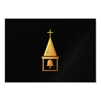 "Torre de Bell ""3-D"" dourada Convite 8.89 X 12.7cm"