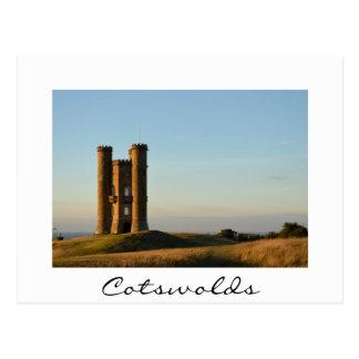 Torre de Broadway no cartão do branco de Cotswolds