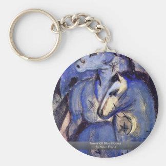 Torre de cavalos azuis por Marc Franz Chaveiros