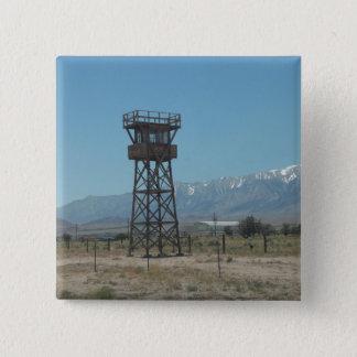 Torre de guarda do memorial de guerra de Manzanar Bóton Quadrado 5.08cm