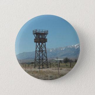 Torre de guarda do memorial de guerra de Manzanar Bóton Redondo 5.08cm