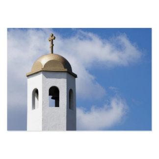 Torre de igreja cartão de visita