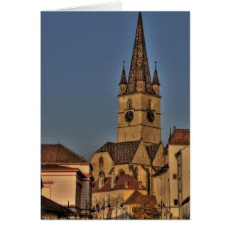 Torre de igreja evangélica cartoes