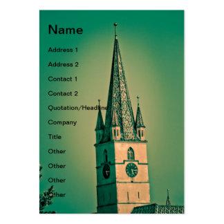 Torre de igreja evangélica cartão de visita grande
