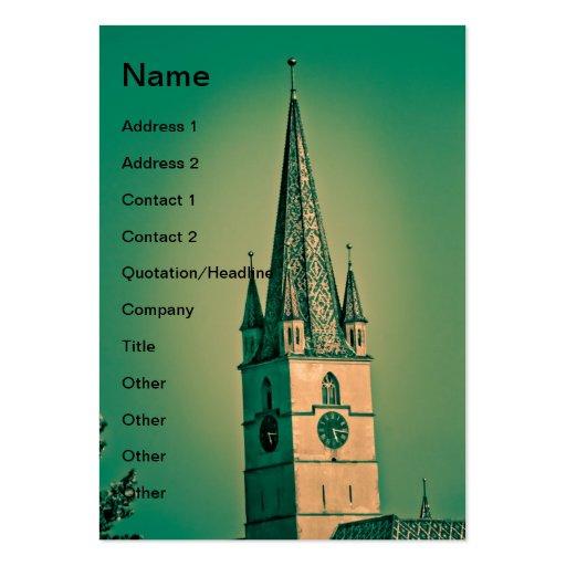 Torre de igreja evangélica cartoes de visita