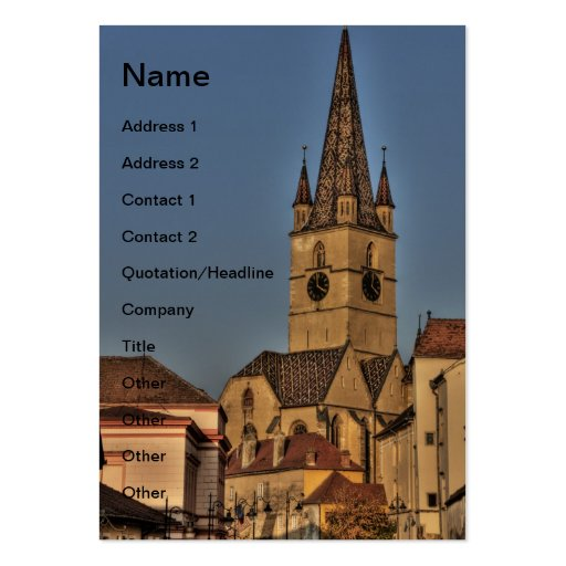Torre de igreja evangélica cartoes de visitas