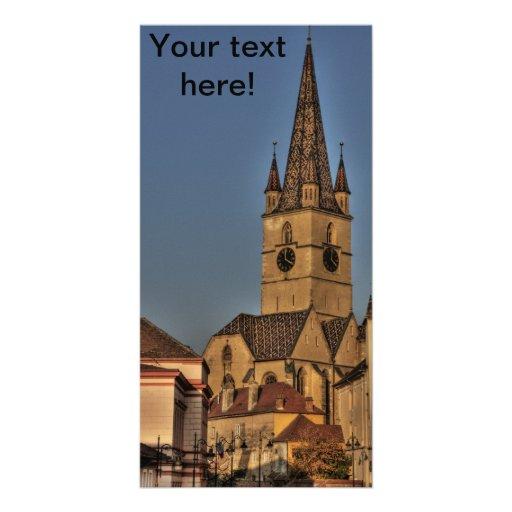 Torre de igreja evangélica cartoes com fotos personalizados