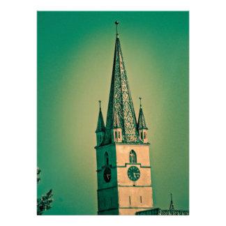 Torre de igreja evangélica convite personalizado