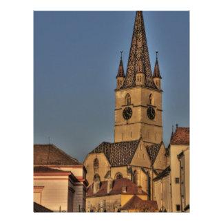 Torre de igreja evangélica panfleto