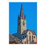 Torre de igreja evangélica, Sibiu Impressão Fotográficas