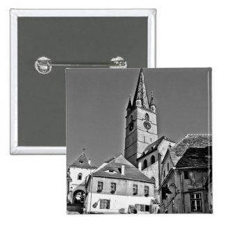 Torre de igreja evangélica, Sibiu Pins
