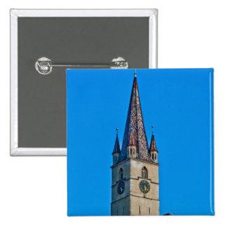 Torre de igreja evangélica, Sibiu Boton