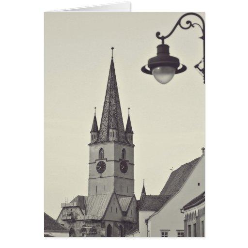 Torre de igreja evangélica, Sibiu Cartao