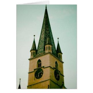 Torre de igreja evangélica Sibiu Cartoes