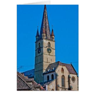 Torre de igreja evangélica, Sibiu Cartões