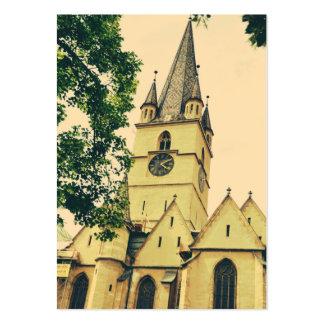 Torre de igreja evangélica, Sibiu Cartão De Visita Grande