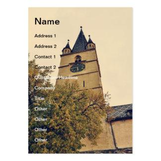 Torre de igreja evangélica, Sibiu Cartão De Visita