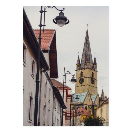 Torre de igreja evangélica, Sibiu Modelos Cartao De Visita