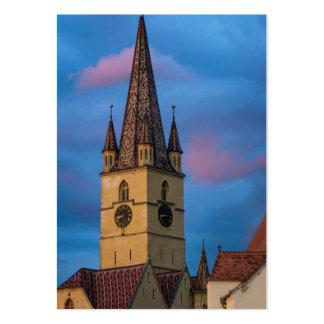 Torre de igreja evangélica, Sibiu Cartões De Visitas