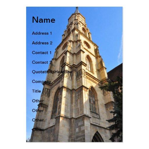 Torre de igreja evangélica, Sibiu Cartao De Visita