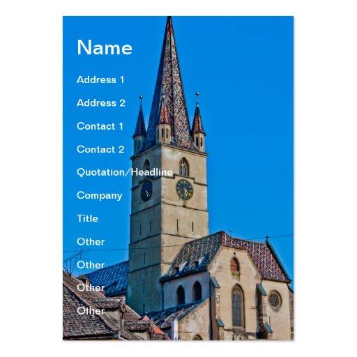 Torre de igreja evangélica, Sibiu Cartoes De Visitas